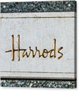 Harrods Acrylic Print by Luis Alvarenga