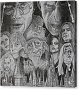 Harry Potter Montage Acrylic Print by Mark Harris