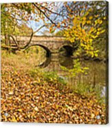 Hartford Bridge In Autumn Acrylic Print