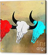 Hart's Camp Buffalo Skulls Acrylic Print by GCannon