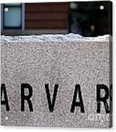 Harvard Acrylic Print