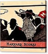 Harvard Scores 1905 Acrylic Print