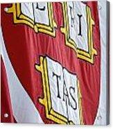 Harvard Veritas Banner Acrylic Print
