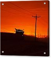 Harvest At Sunset Acrylic Print