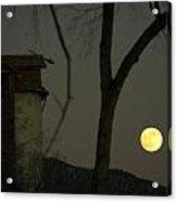 Harvest Moon And The Dead Granary Acrylic Print