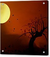 Harvest Moon Acrylic Print by Hazel Billingsley