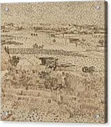 Harvest  The Plain Of La Crau Acrylic Print
