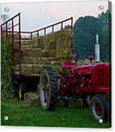 Harvest Time Tractor Acrylic Print