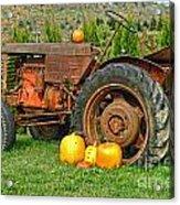 Harvest Tractor Acrylic Print