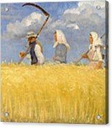 Harvesters Acrylic Print