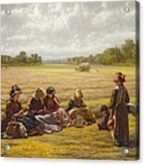 Harvesters Resting In The Sun, Berkshire, 1865 Oil On Canvas Acrylic Print