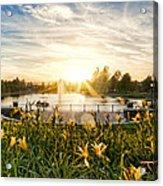 Summertime On Harveston Lake Acrylic Print