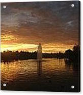 Harveston Lake Sunset Acrylic Print