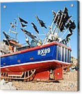 Hastings Fishing Boat Acrylic Print