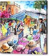 Hat Shopping At Turre Market Acrylic Print