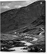 Hatcher's Pass In Black And White Acrylic Print