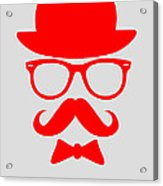 Hats Glasses And Mustache Poster 3 Acrylic Print by Naxart Studio