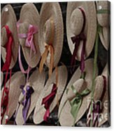 Hats In Colonial Williamsburg Acrylic Print