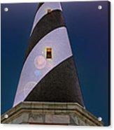 Hatteras Lighthouse At Night Acrylic Print