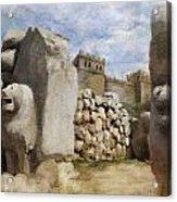 Hattusha The Hittite Capital Acrylic Print