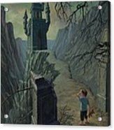Haunted Castle Nightmare Acrylic Print by Martin Davey