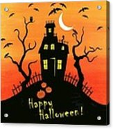 Haunted House Part One Acrylic Print by Linda Mears