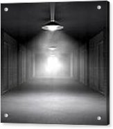 Haunted Jail Corridor And Cells Acrylic Print by Allan Swart