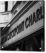 haus am checkpoint charlie museum Berlin Germany Acrylic Print by Joe Fox