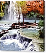 Havasau Falls Painting Acrylic Print