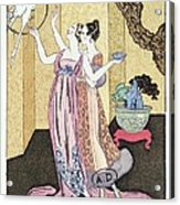 Have You Had A Good Dinner Jacquot? Acrylic Print by Georges Barbier