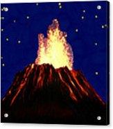 Hawaian Vulcano At Night Acrylic Print