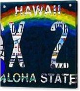 Hawaii License Plate Acrylic Print