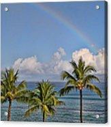 Hawaii Rainbow Acrylic Print