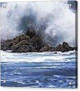 Hawaii Waves V3 Acrylic Print
