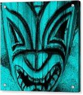 Hawaiian Aquamarine Mask Acrylic Print