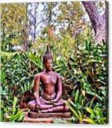 Hawaiian Garden Buddha  Acrylic Print