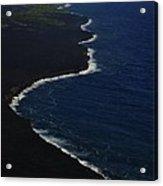 Hawaiian Goddess Meets The Sea Acrylic Print by Tara Miller