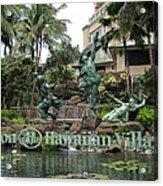 Hawaiian Hilton Statues Acrylic Print