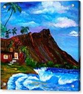 Hawaiian Homestead At Diamond Head Acrylic Print