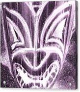 Hawaiian Mask Negative Pink Acrylic Print