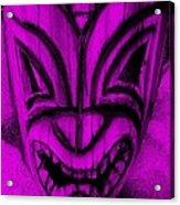Hawaiian Purple Mask Acrylic Print