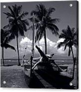 Hawaiian Sailing Canoe Maui Hawaii Acrylic Print