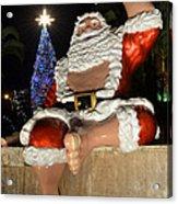 Hawaiian Santa Acrylic Print