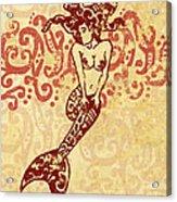 Hawaiian Style Mermaid Acrylic Print