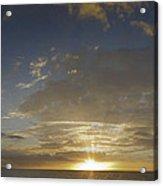 Hawaiian Sunset Panorama Acrylic Print
