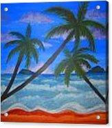Hawaiin Beach Acrylic Print by Haleema Nuredeen