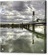 Hawthorne Bridge Over Willamette River Acrylic Print