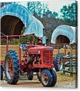 Hay Rides Trailer Acrylic Print