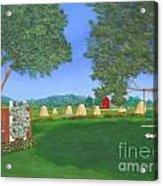 Hay Time Acrylic Print