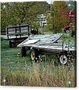 Hay Wagons Acrylic Print